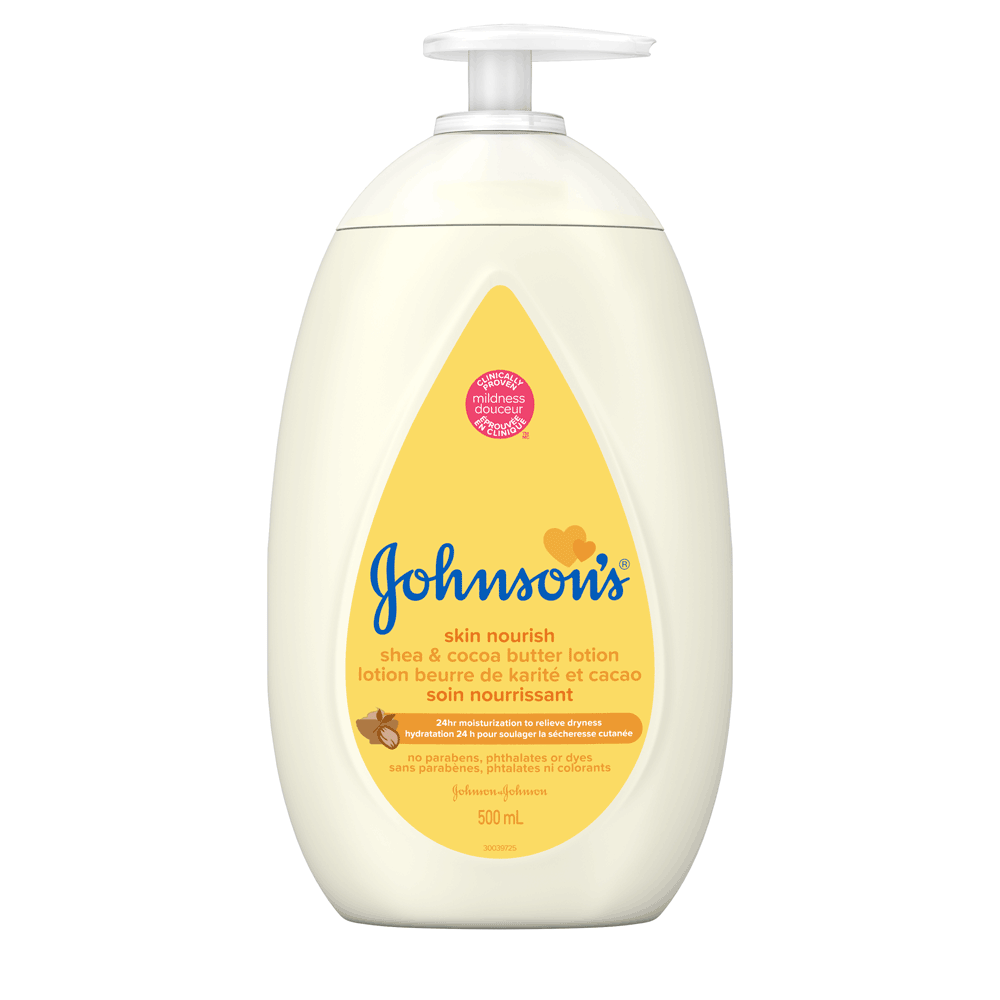 Lotion JOHNSON'S® Soin nourrissant Beurre de karité et cacao