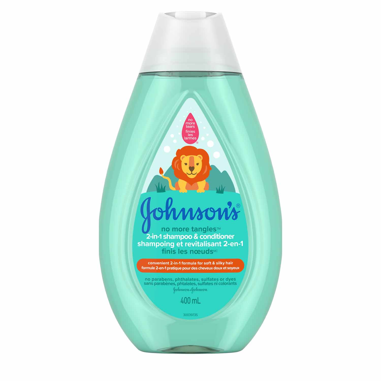 Shampoing et revitalisant 2-en-1 JOHNSON'S® Finis les nœudsMC