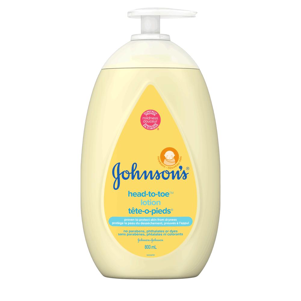 Lotion pour bébés JOHNSON'S® TÊTE-O-PIEDS®