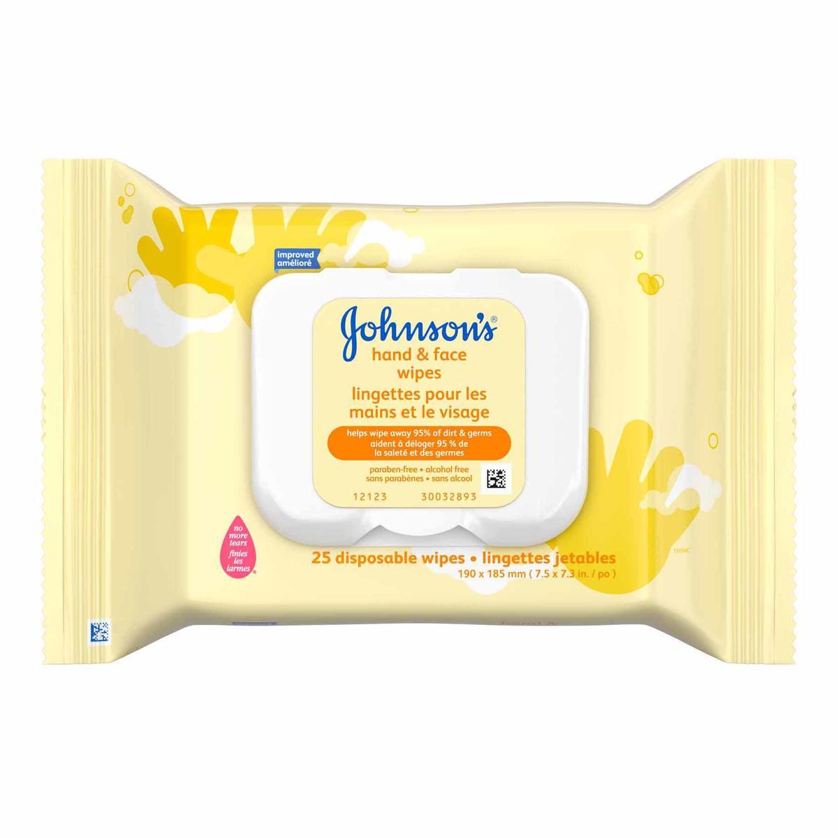 Lingettes pour les mains et le visage JOHNSON'S®