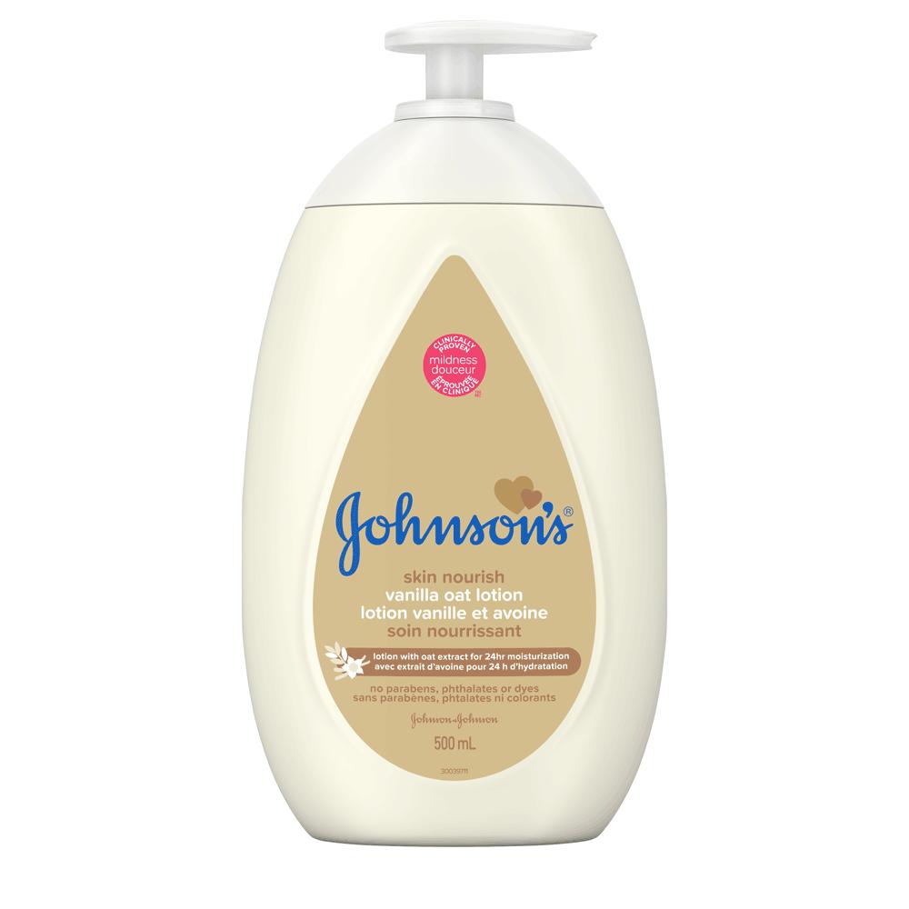Lotion JOHNSON'S® Soin nourrissant Vanille et avoine