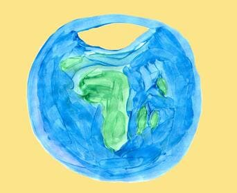 earth icon on yellow background