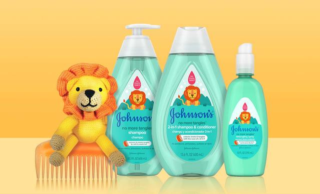 Johnson's® No More Tangles® detangling toddler hair products collection