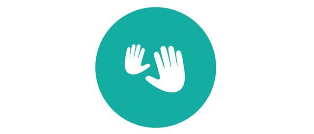 icône de mains de massage nouveau-né